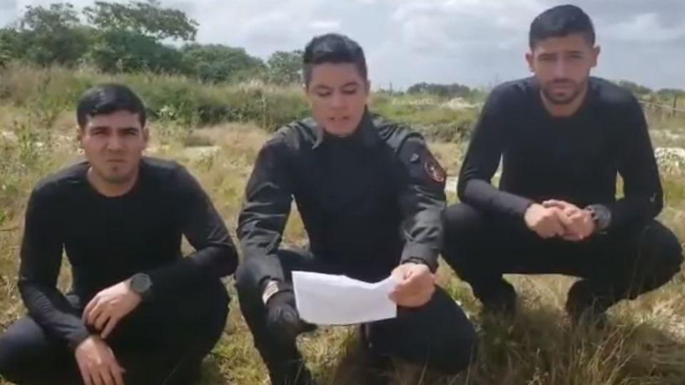 Josué Abraham Hidalgo, Franklin Caldera y Ruso Cárdenas