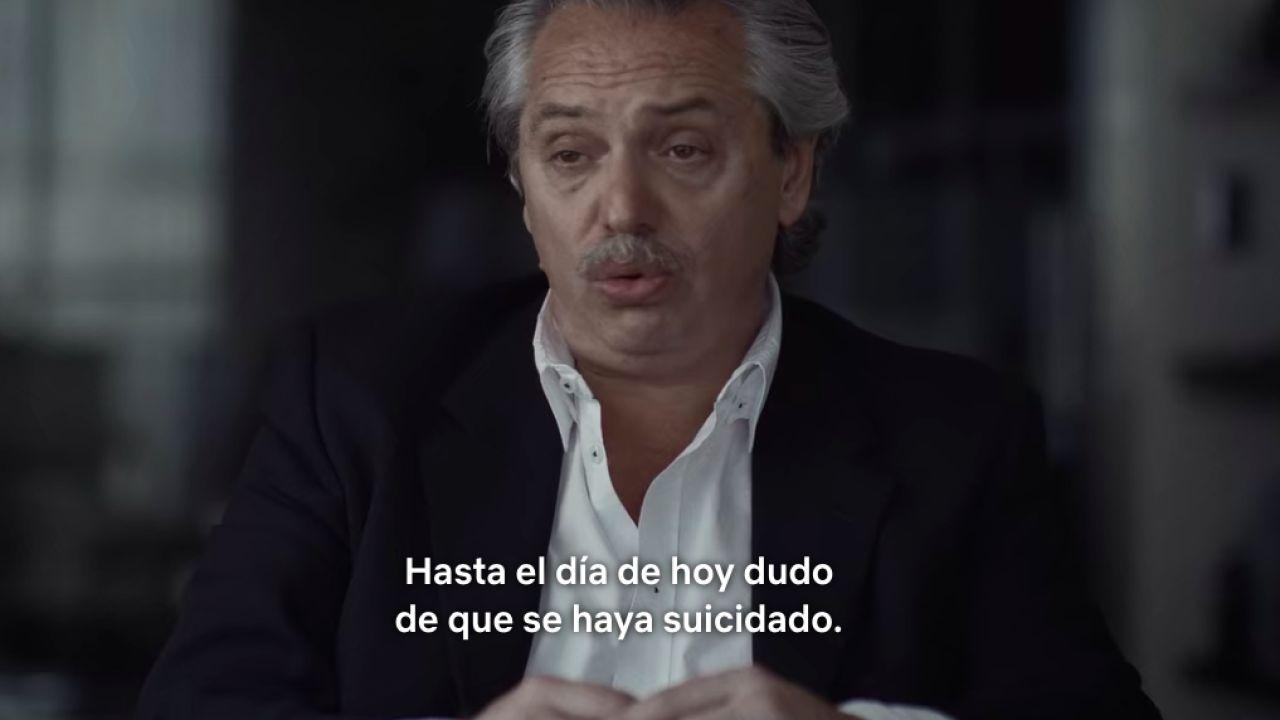Alberto Fernández en el documental de Nisman   Foto:Cedoc