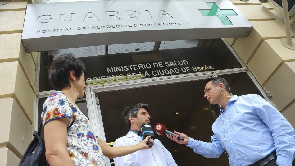 El Hospital Santa Lucía recibió varios heridos.