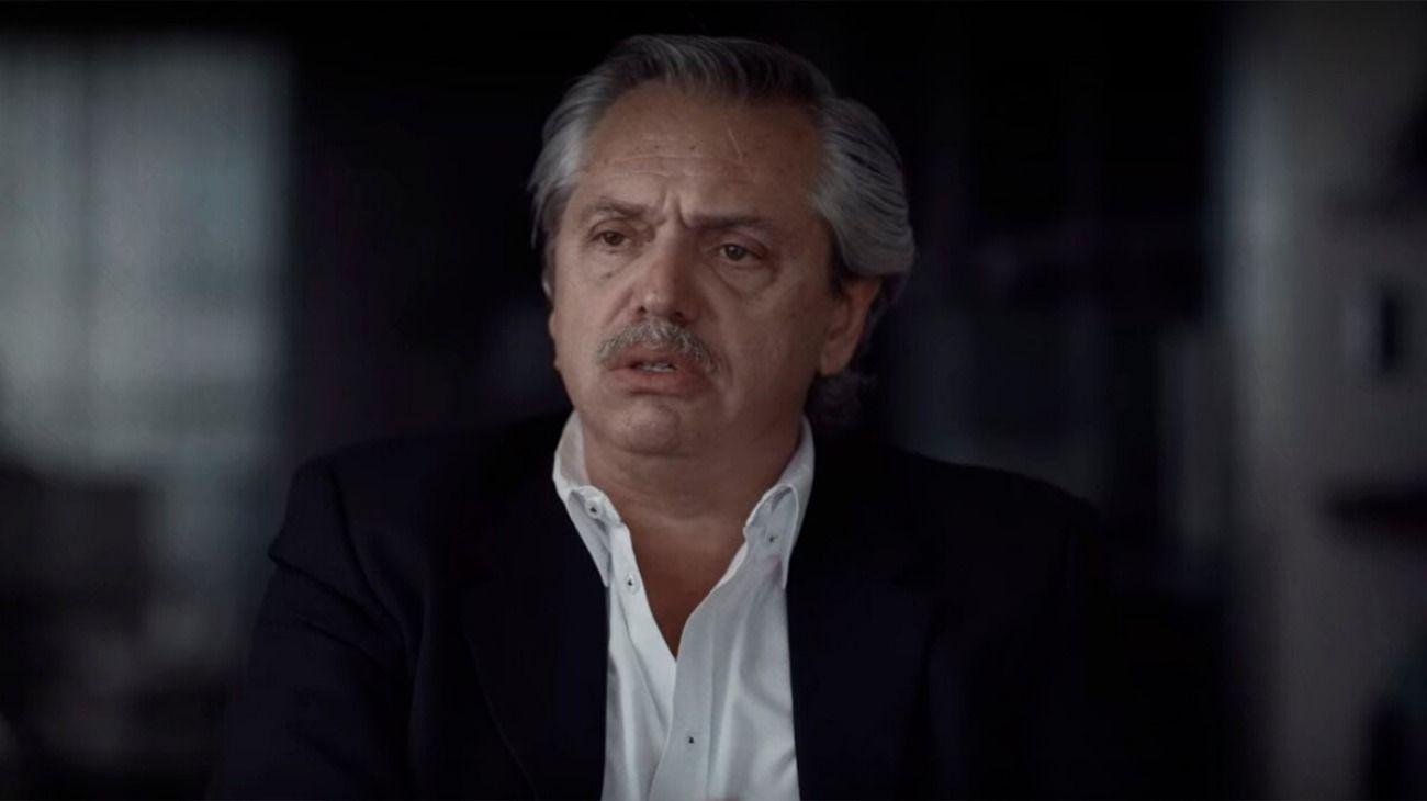Alberto Fernández participó en el documental de Netflix.