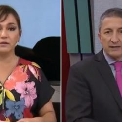 Lorena Maciel y Luis Ventura en la pantalla de TN