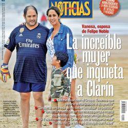 La tapa de Noticias. Vanesa y Felipe Noble | Foto:Cedoc