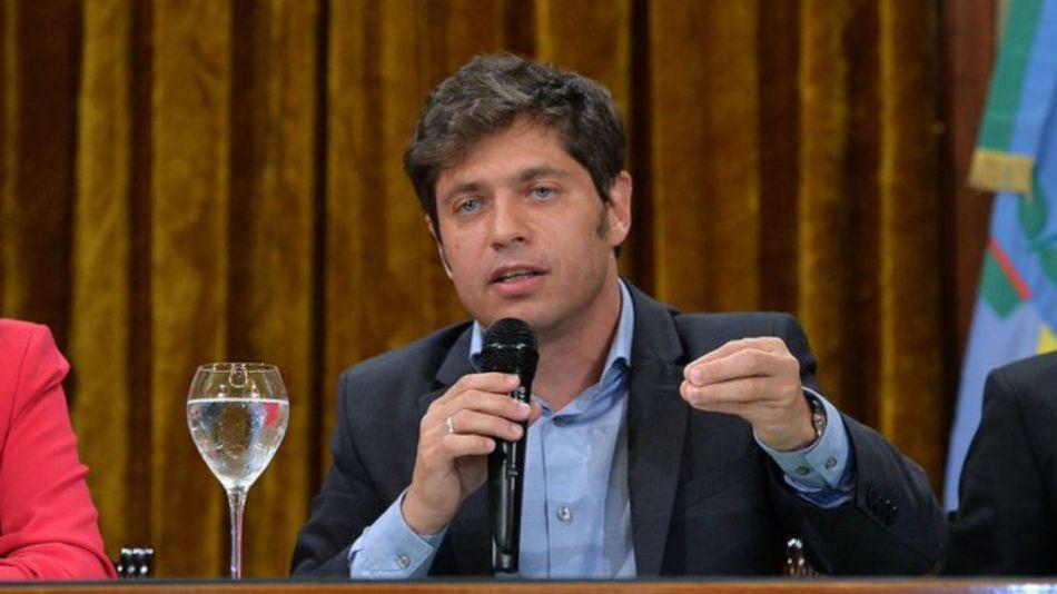 El gobernador bonaerense, Axel Kicillof.