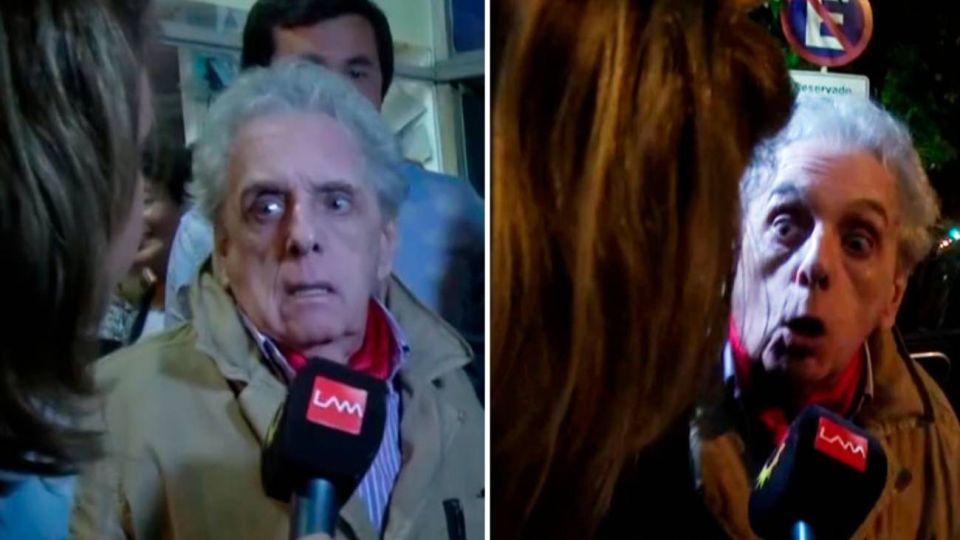 VIDEO | El brutal ataque de Antonio Gasalla contra dos cronistas