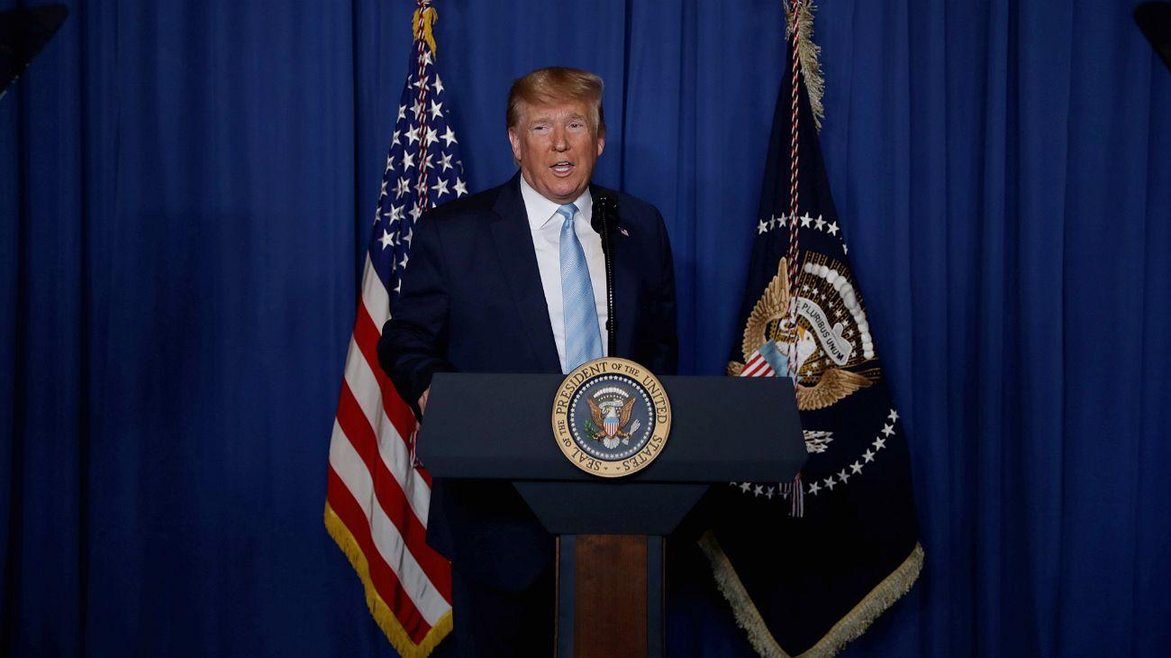 Trump, desde su residencia de Mar-a-Lago.