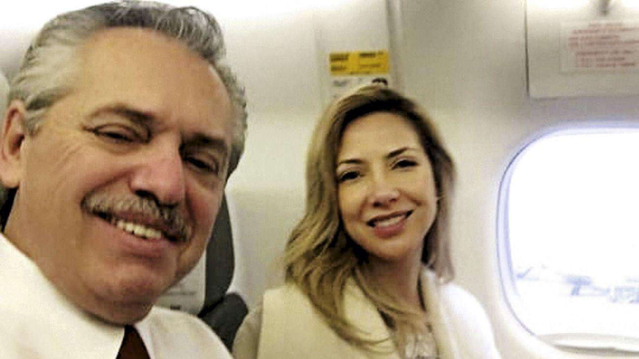 Alberto Fernández junto a Fabiola Yañez.
