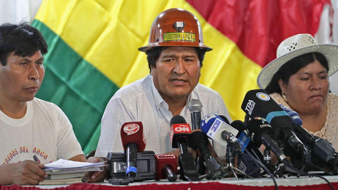 Former president of Bolivia, Evo Morales.