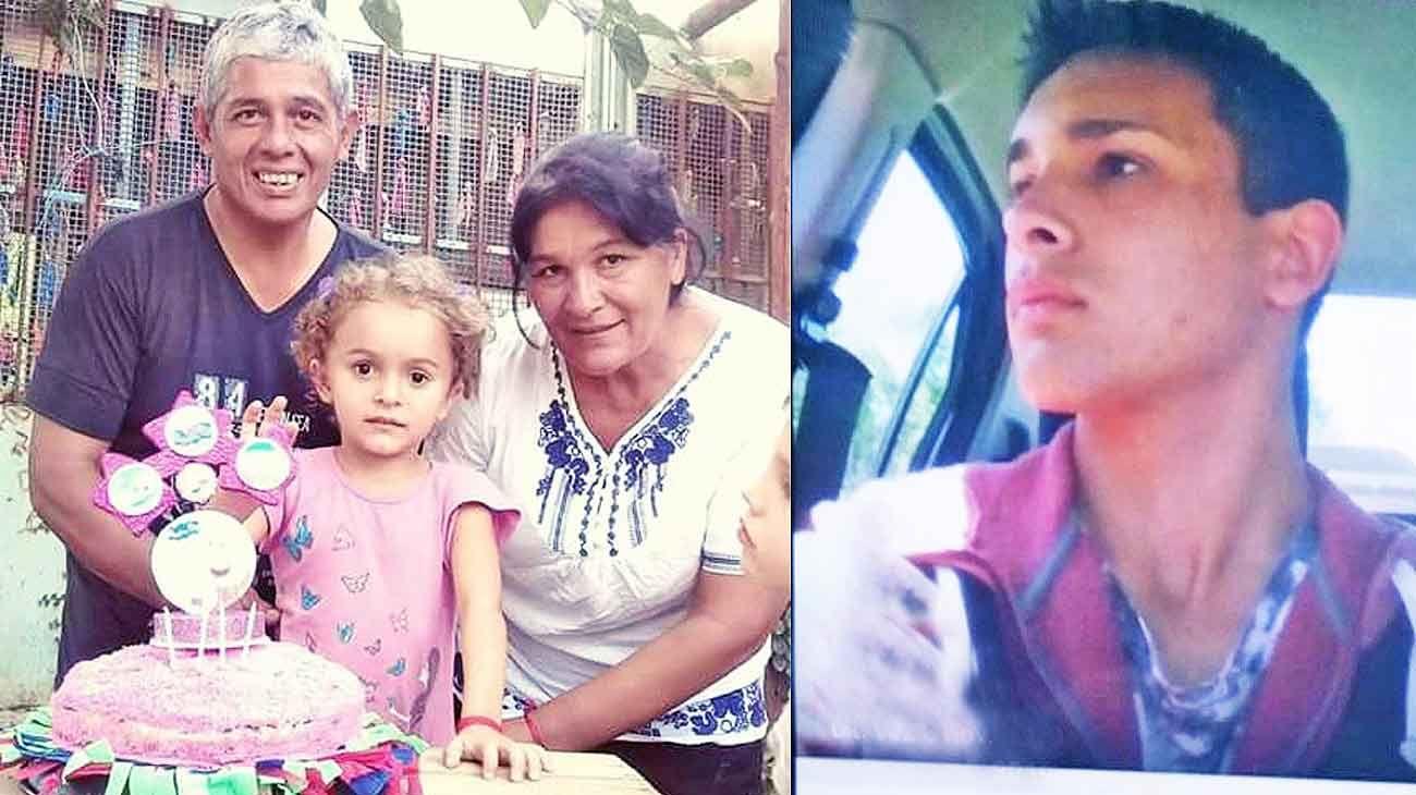 Buscado. Exequiel Sanso (der.) fue visto por última vez el 1º de enero. Esa madrugada asesinaron a Raúl, Graciela y la nena, Alma.