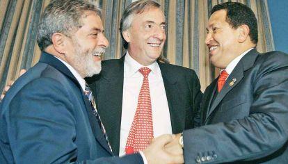 Lideres. Lula, Néstor Kirchner y Hugo Chávez representan una generación de políticos con poder.