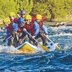 El verano es una muy buena época para disfrutar del rafting.