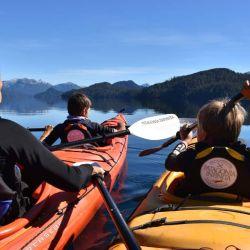 Es preferible empezar las remadas con kayaks abiertos, del tipo sit on top.