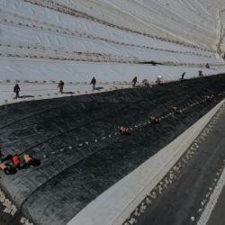 Como parte de las obras a realizar, se lanzó la construcción de la Fase 6 del Valle de Lixiviación, en un terreno de 45 hectáreas. | Foto:Barrick Gold