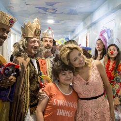"""Fabiola Yáñez celebró """"Reyes"""" junto a niños del Hospital Elizalde"""