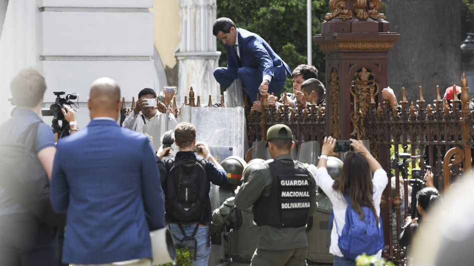 Maduro Forces Oust Guaido from Congress and Spark Day of Chaos