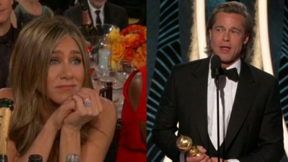 La reacción de Jennifer Aniston al escuchar a Brad Pitt hablando de sus ex