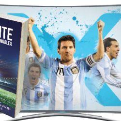 Márketing del éxito. En las eliminatorias al Mundial 2018, Noblex prometió que si la selección no clasificaba, devolvería el dinero a los que compraran sus televisores. | Foto:Newsan y Cedoc