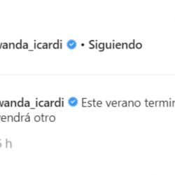 Wanda Nara compartió un enigmático mensaje con su cola