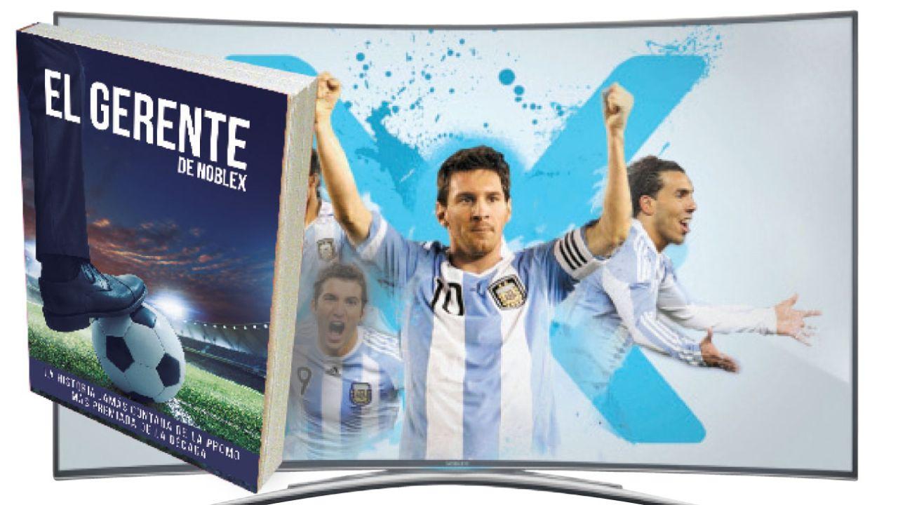 Márketing del éxito. En las eliminatorias al Mundial 2018, Noblex prometió que si la selección no clasificaba, devolvería el dinero a los que compraran sus televisores.   Foto:Newsan y Cedoc