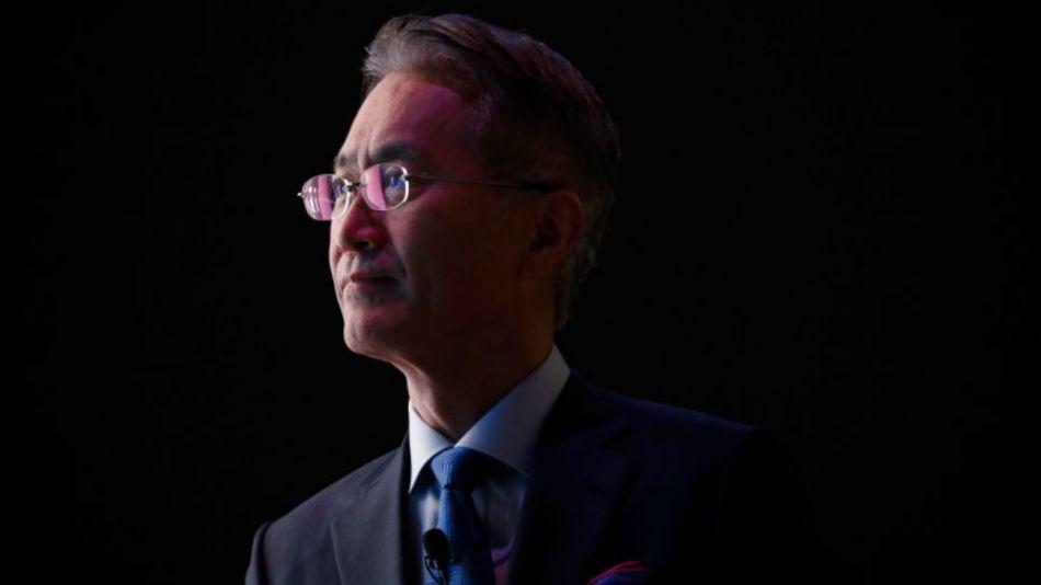 El CEO de Sony, Yoshida, en la CES. (Archivo Bloomberg)