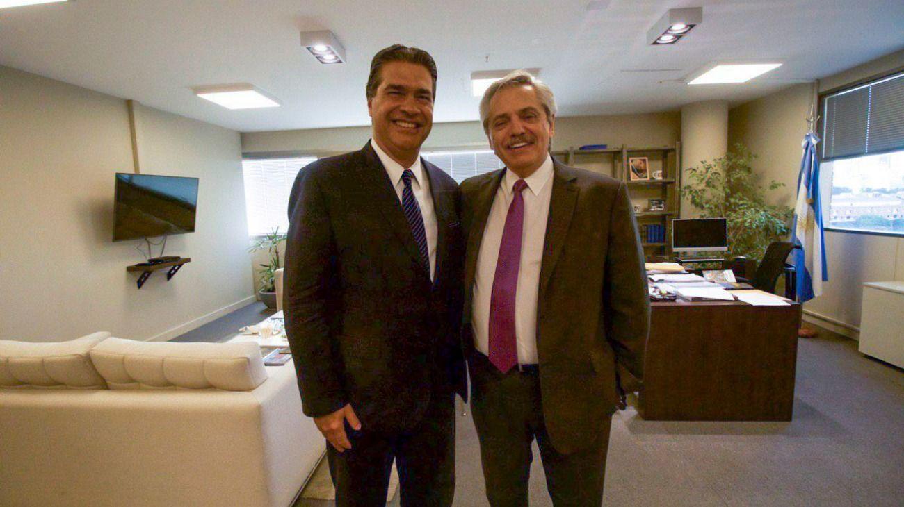 Jorge Capitanich y Alberto Fernandez.