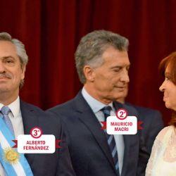 Alberto Fernández, Mauricio Macri y Cristina Kirchner | Foto:Pablo Cuarterolo