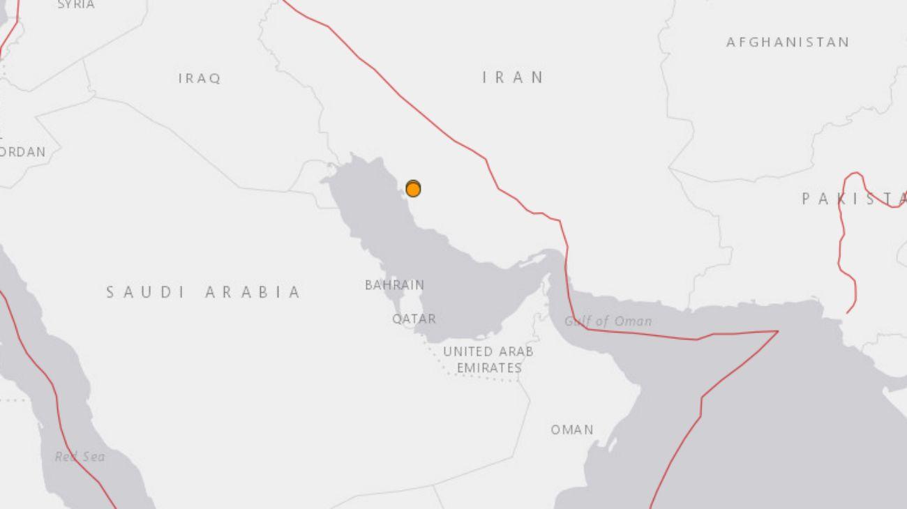 Localización de los dos sismos, según el informe del Servicio Geológico de los Estados Unidos (USGS)