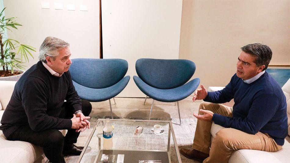 Alberto Fernández junto a Jorge Capitanich, durante la última campaña