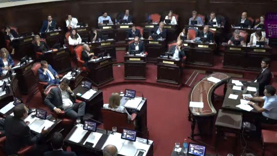 Debate en el Senado Bonaerense.