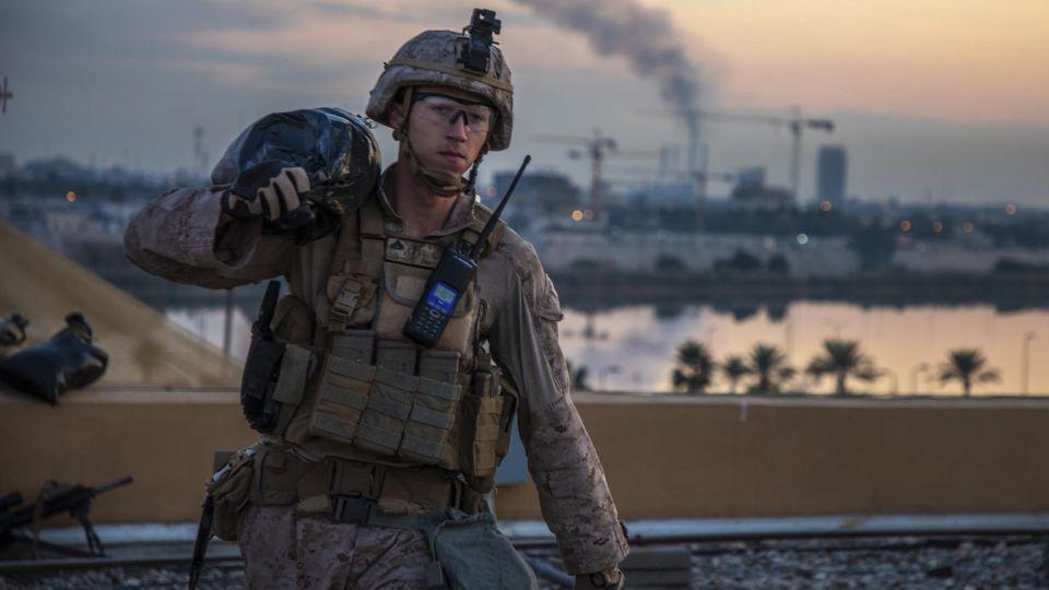 Momento en que despegan los misiles con blanco en el destino de la base Militar en Bagdad de Estados Unidos visitada el 26 de Diciembre pasado por Donald Trump y su esposa.