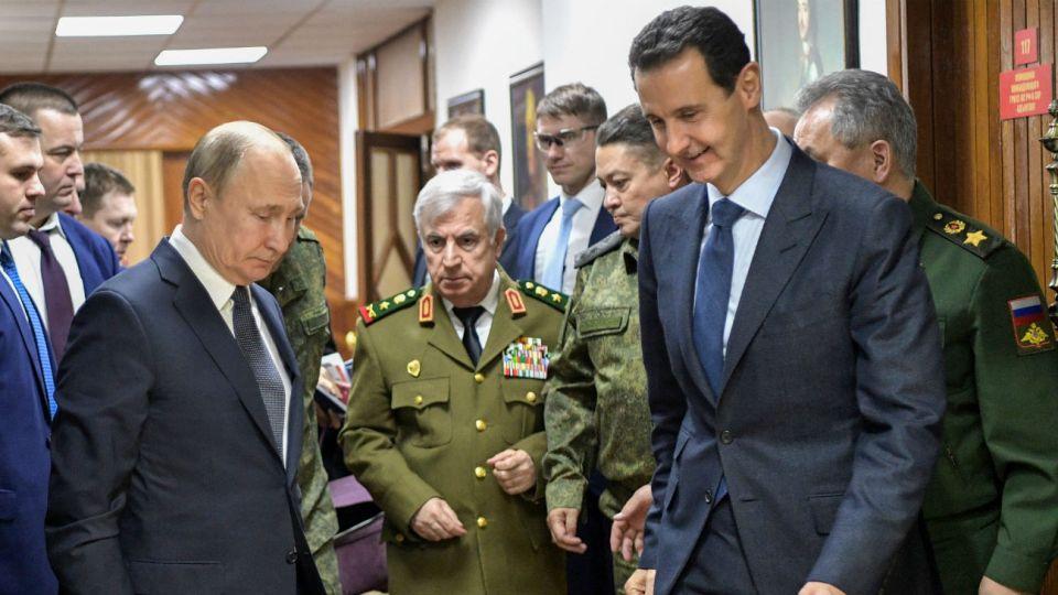El presidente Bashar al-Assad y su homólogo ruso Vladimir Putin, durante una reunión.