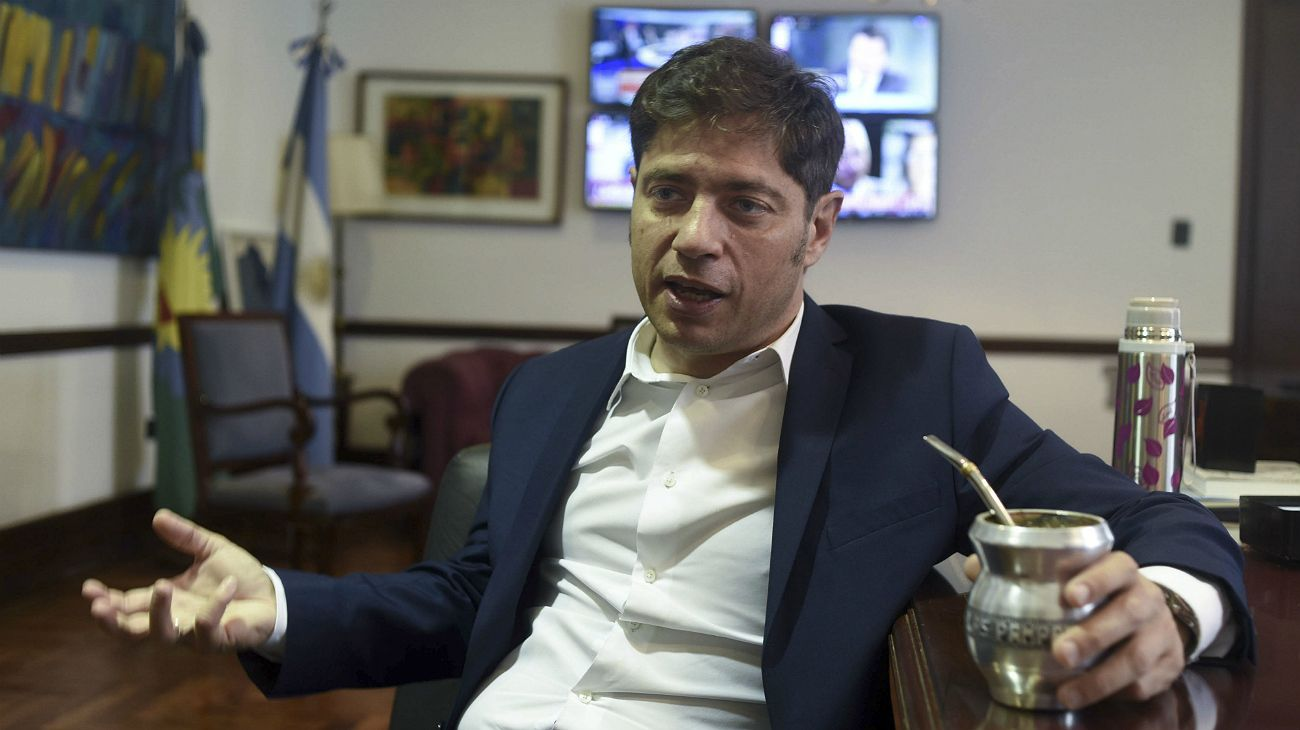 Axel Kicillof, en su despacho.