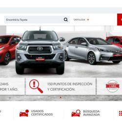 Sitio web de Toyota Argentina dedicado a los vehículos usados.