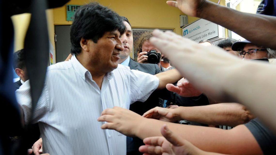 Evo Morales, pictured in Buenos Aires this week.