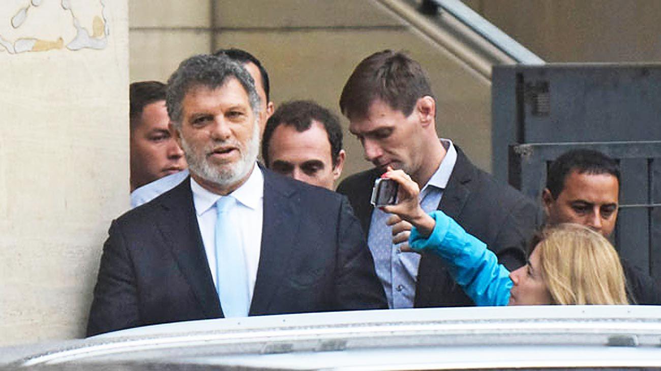 Antecedente. Gianfranco Macri, al salir de declarar en los tribunales de Comodoro Py.