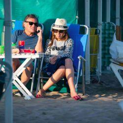 Vidal y Sacco en Pinamar | Foto:Mario de Fina