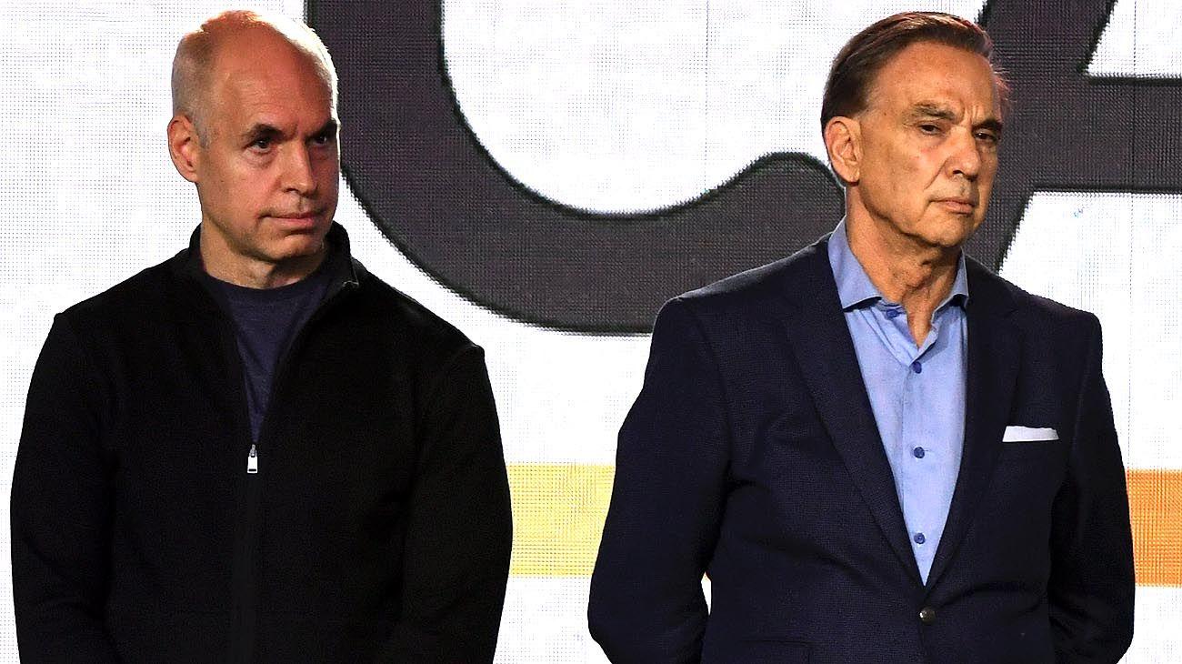 Miguel Angel Pichetto y Horacio Rodríguez Larreta.
