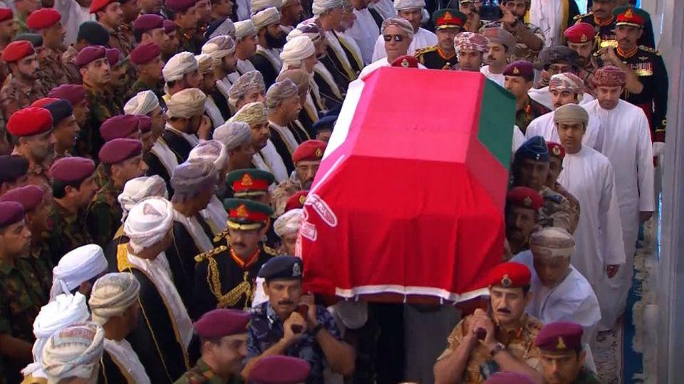 El adiós al sultán de Omán, Qaboos bin Said, fue multitudinario.