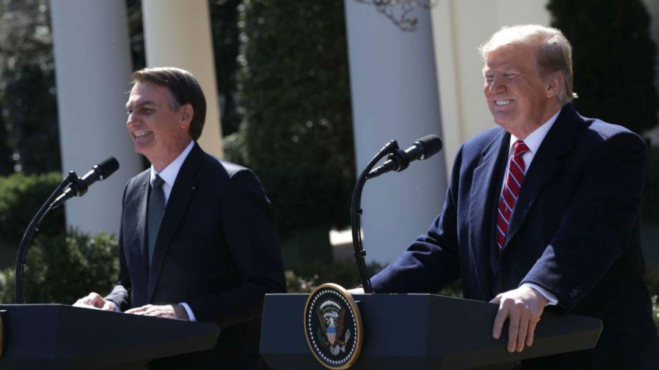 Bolsonaro y Trump, durante la visita del presidente de Brasil a EEUU.