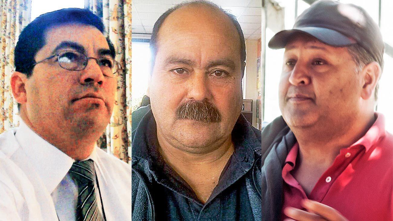 Incumplimiento. Armando Niz, Rubén Benítez y Luis Miño, los tres efectivos más complicados.