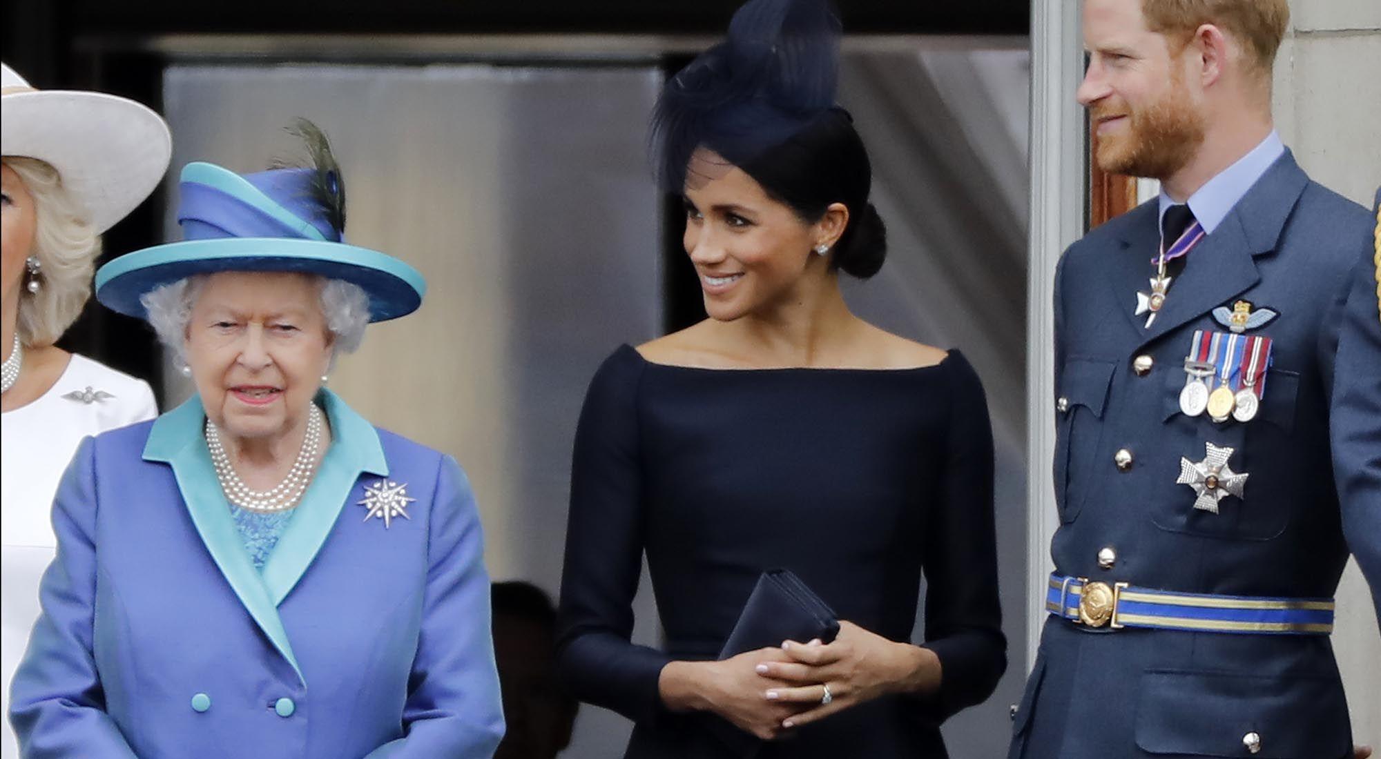 La reina de Gran Bretaña Elizabeth II y su familia Real.