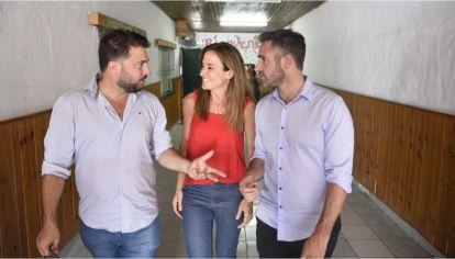 Diego Brancatelli, Victoria Tolosa Paz y Federico Achával.