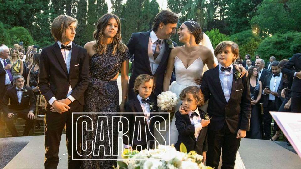 La primera salida de Roberto García Moritán con los hijos de Pampita