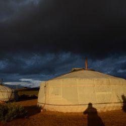Atardecer en las estepas de Mongolia.