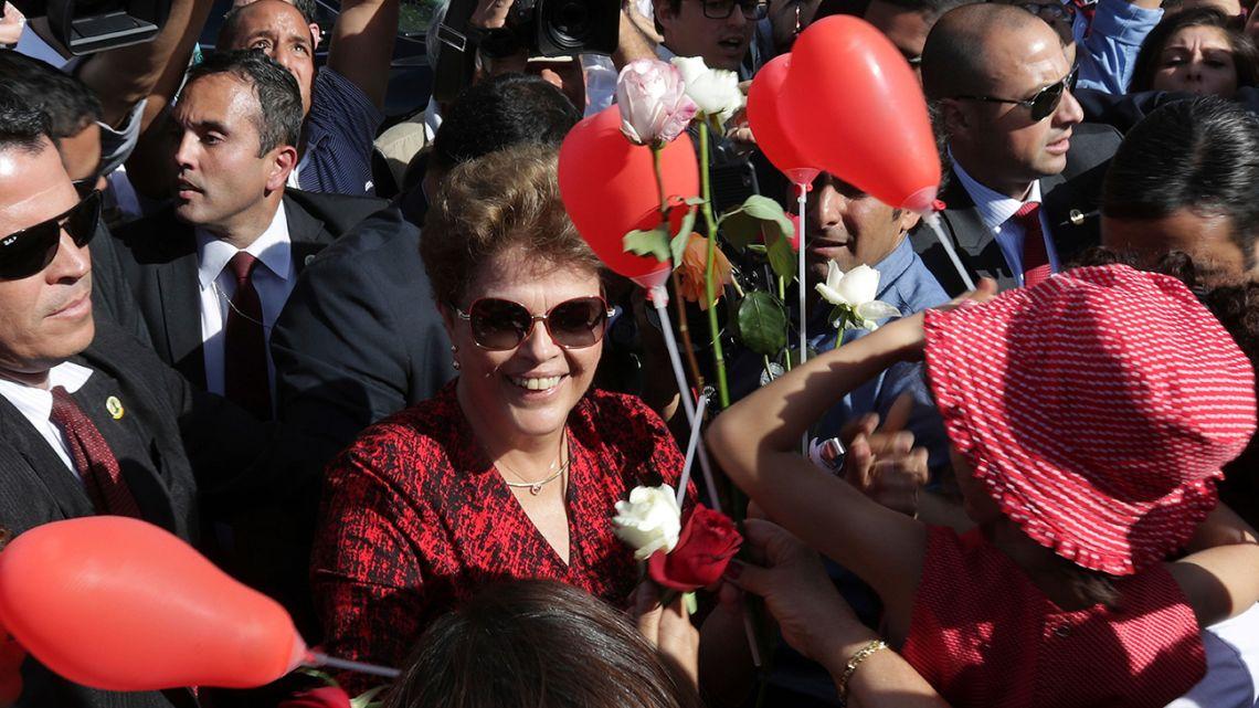 Former Brazil president Dilma Rousseff.