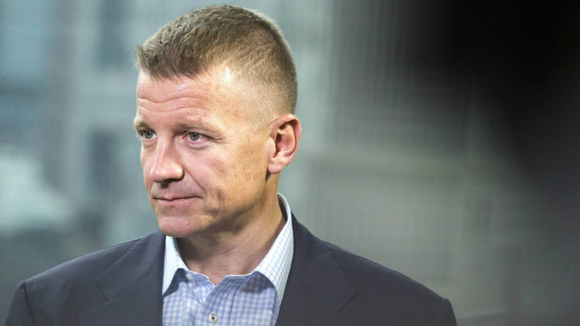 Erik Prince, chairman of Frontier Services Group Ltd., during an interview in Hong Kong, China, on March 16, 2017.