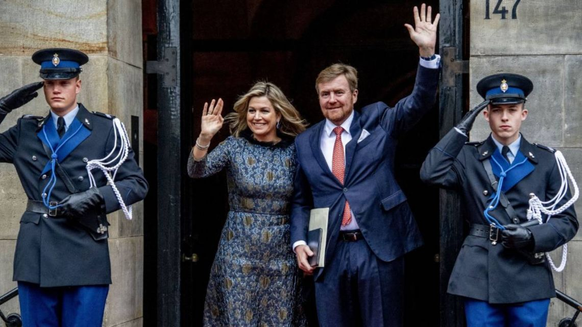 Máxima de Holanda y el Rey Guillermo.