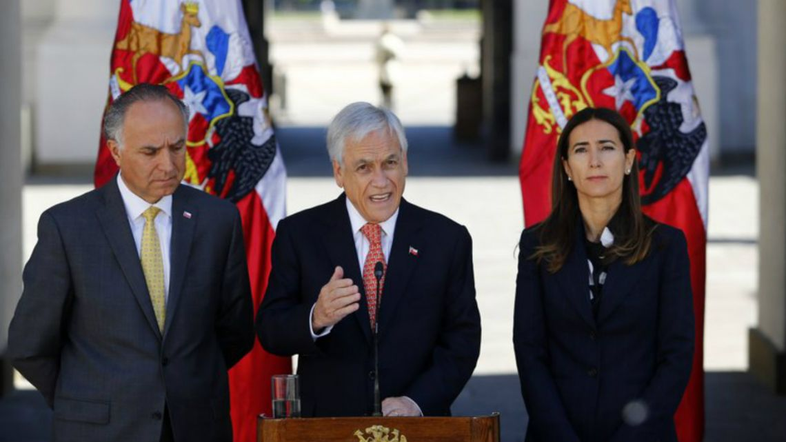 Sebastián Piñera at La Moneda presidential palace in Santiago, Chile