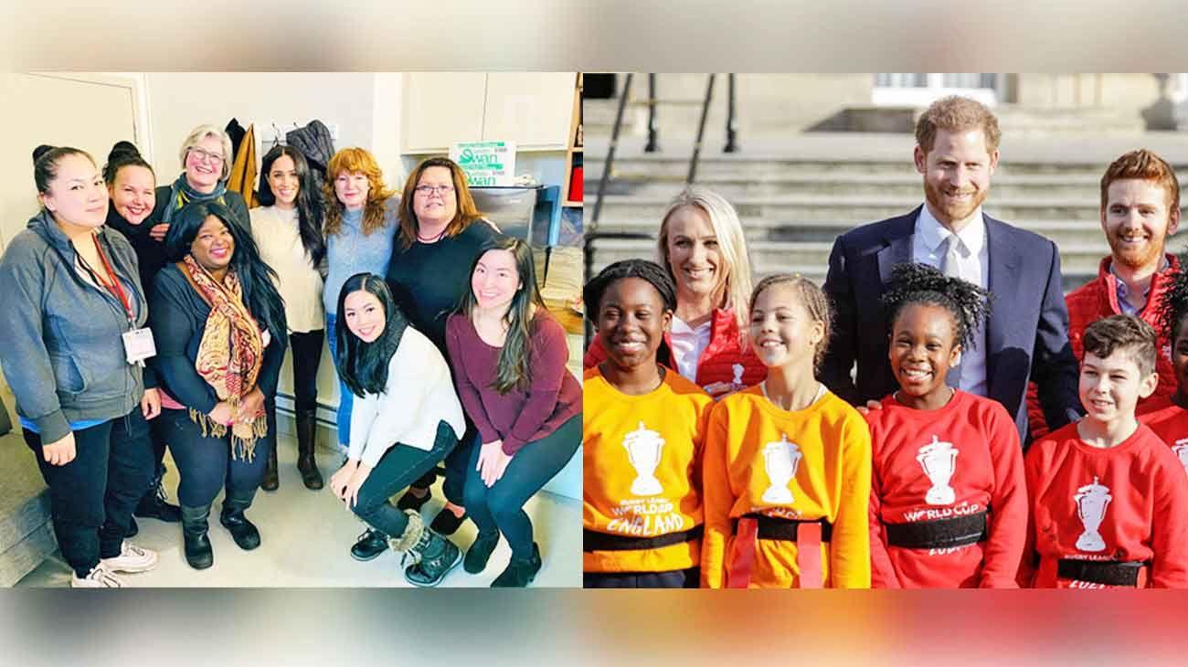 Agenda. Meghan está en Vancouver, donde visitó un refugio para mujeres. Harry, en Londres, y participó el jueves de una actividad oficial.