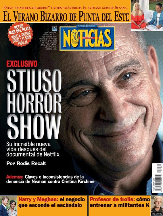 Stiuso Horror Show. La Tapa de NOTICIAS.    Foto:Cedoc