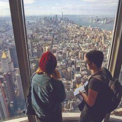 Vista desde el nuevo observatorio del Empire State en el piso 102.